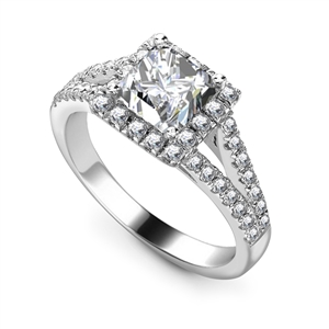 Image for Princess Diamond Single Halo Ring