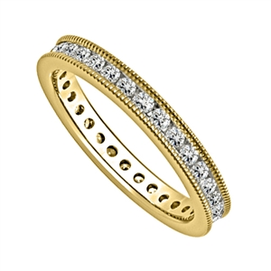 Image for 1.00ct Milgrain Elegant Round Diamond Full Eternity Ring