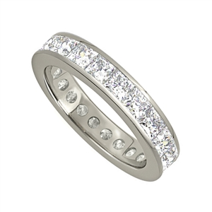 Image for 3.00CT Princess Diamond Full Eternity Ring