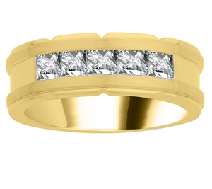 Image for 8mm Mens Round Diamond Ring