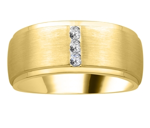 Image for 9mm Mens Round Diamond Ring