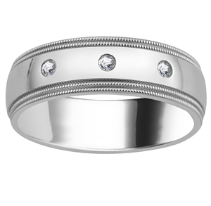 Image for 7mm Mens Round Diamond Ring