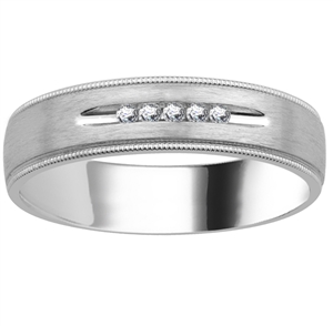 Image for 5.5mm Mens Round Diamond Ring