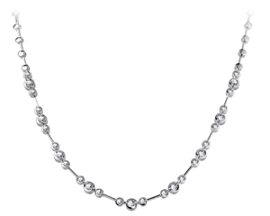 Image for Elegant Round Diamond Necklace