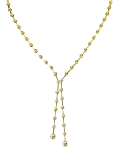 Image for Elegant Round Diamond Two Drop Necklace