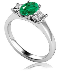 Image for Emerald & Diamond Trilogy Ring