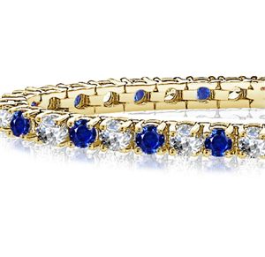 18ct Yellow Gold Gemstone & Diamond Bracelets