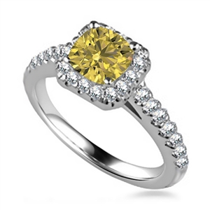 18ct Yellow Gold Yellow Diamond Engagement Rings