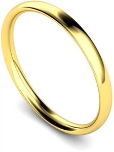 Women's 9ct Yellow Gold Court Shape Classic Wedding Rings