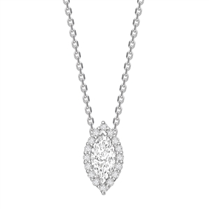 Marquise Halo Diamond Pendants