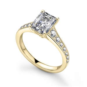 Image for Radiant Diamond Shoulder Set Ring