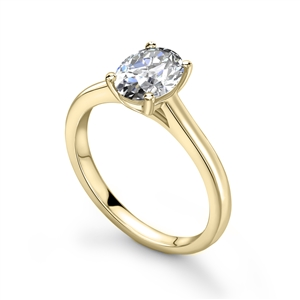 Image for Modern Oval Diamond Engagement Ring