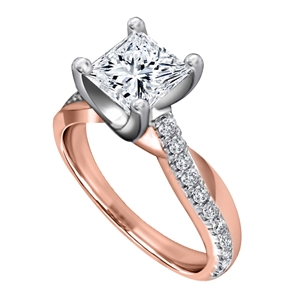 Image for Infinity Princess & Round Diamond Engagement Ring