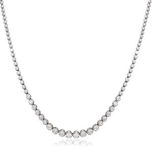 Image for Round Diamond Tennis Necklace