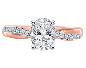 Image for Infinity Oval & Round Diamond Engagement Ring