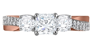 Image for 3 Stone Infinity Princess Diamond Ring