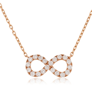 Image for Infinity Round Diamond Designer Necklace