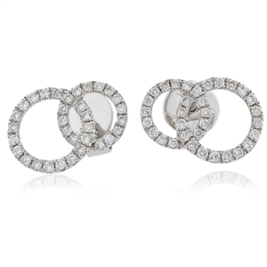 Image for Unique Round Diamond Knot Earrings