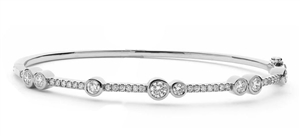 Image for Elegant Round Diamond Set Bangle