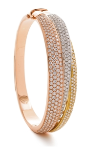 Yellow, White & Rose Gold Diamond Bracelets