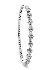 Image for Elegant Encrusted Diamond Set Bangle