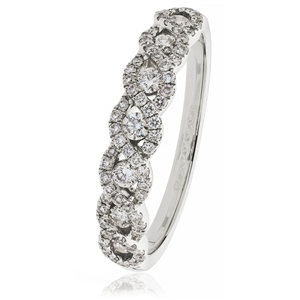 Image for 0.50CT Elegant Round Diamond Cross Over Dress Ring