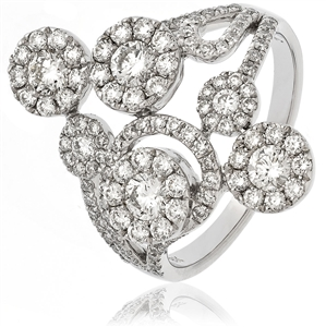 Image for 1.40CT Elegant Round Diamond Dress Ring