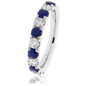 Image for 0.50CT Blue Sapphire and Diamond Eternity Ring