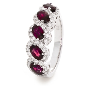 Buy Gemstone Eternity Rings Online