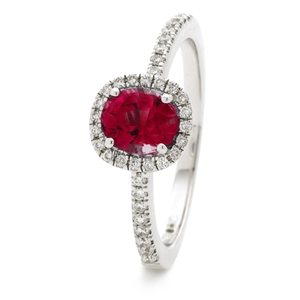 Image for 1.10CT Ruby & Diamond Halo Ring