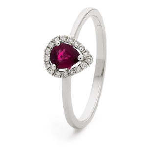 Image for 0.50ct Ruby & Diamond Cluster Ring