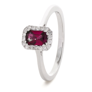 Image for 0.80CT Red Ruby & Diamond Ring