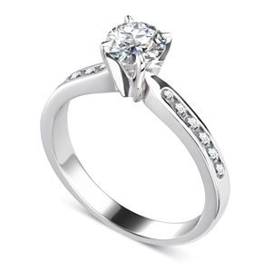 Image for Shoulder Set Diamond Engagement Ring