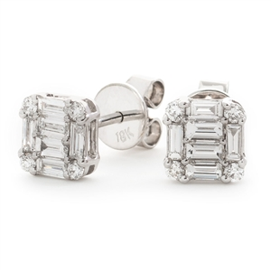 Image for 0.60CT Classic Diamond Cluster Earrings