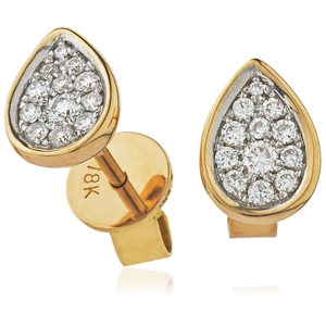 Image for 0.20CT Classic Round Diamond Cluster Earrings