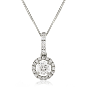 Halo Diamond Pendants
