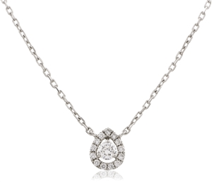 Image for 0.30CT Cluster Round Diamond Designer Pendant