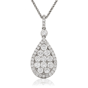 Image for 1.00CT Cluster Round Diamond Designer Pendant