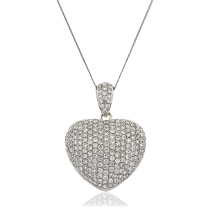Image for 3.00CT Classic Round Diamond Heart Pendant
