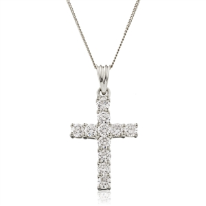 Image for 2.00CT Classic Round Diamond Cross Pendant