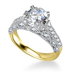 Image for Unique Round Diamond Vintage Ring