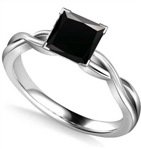 Buy Solitaire Black Diamond Rings Online