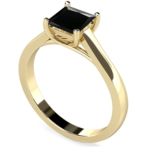 Image for Princess Black Diamond Solitaire Ring