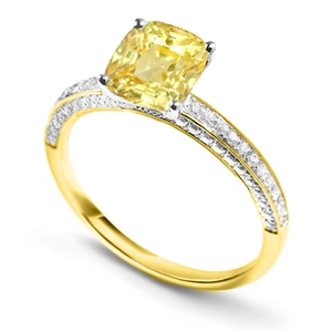 Image for Cushion Yellow Diamond Engagement Ring