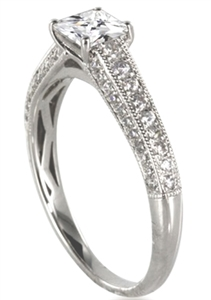 Image for Princess & Round Vintage Diamond Ring