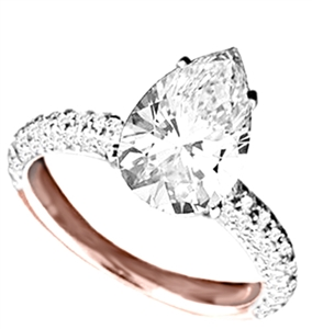 Image for Pear & Round Diamond Vintage Ring