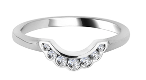 Image for 0.15CT VS/FG Round Diamond Shaped Wedding Ring