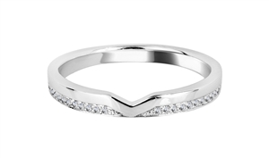 Image for 0.10CT VS/FG Round Diamond Shaped Wedding Ring