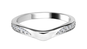 Image for 0.20CT VS/FG Round Diamond Shaped Wedding Ring