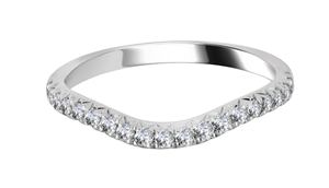 Image for 2mm VS/FG Round Diamond Shaped Wedding Ring
